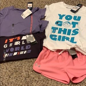 Under Armour Girls size small bundle NWT